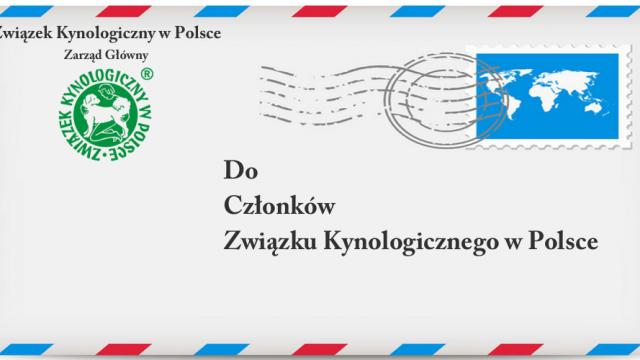 List Przewodniczącej ZG ZKwP Iwony Magdziarskiej-Olesińskiej do Członków Związku